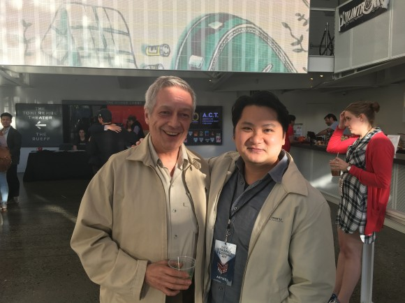 Board Member and former Ma-Yi Executive Director, Jorge Ortoll with Don Nguyen at A.C.T. /New Strands Festival, San Francisco.
